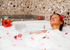 Banho de bolha Fotos de Stock
