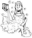 Banho de bolha do bicarbonato de sódio Fotos de Stock Royalty Free