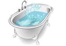 Banho de espuma ilustração stock