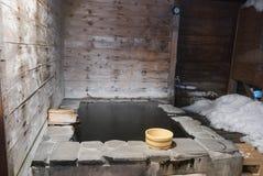 Banho de Onsen Imagens de Stock
