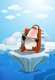 Banho de sol do pinguim Fotografia de Stock