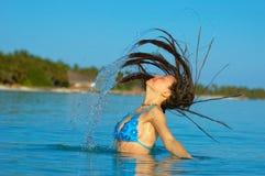 Banho de Sun Imagem de Stock Royalty Free
