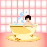 Banho do bebê Fotografia de Stock