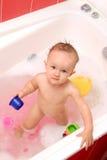 Banho do bebê Foto de Stock Royalty Free