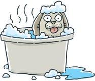 Banho do cão dos desenhos animados ilustração stock