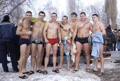 Banho do inverno. Fotografia de Stock