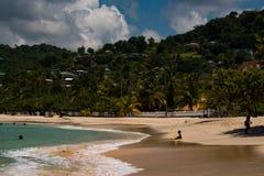 Banho em Anse grande Fotografia de Stock Royalty Free