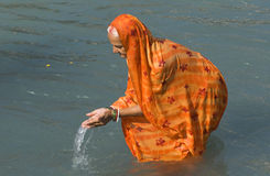 Banho em Haridwar 2 Fotografia de Stock