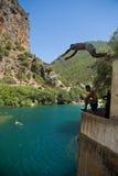 Banho entre montanhas Imagem de Stock Royalty Free