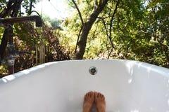 Banho exterior Foto de Stock