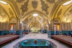 Banho histórico de Ahmad do Amir da sultão, Irã foto de stock royalty free