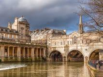 Banho Inglaterra da ponte de Pulteney Fotografia de Stock