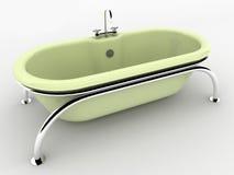 Banho isolado no branco. Imagens de Stock Royalty Free