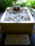 Banho luxuoso com espuma Imagem de Stock Royalty Free