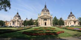 Banho medicinal no parque da cidade, Budapest do panorama Fotografia de Stock Royalty Free
