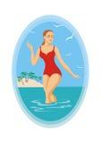 Banho no mar Fotos de Stock Royalty Free