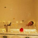 Banho romântico Fotografia de Stock