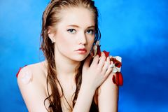 Banho sensual Foto de Stock Royalty Free