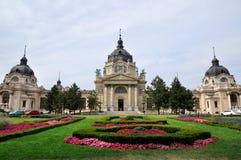 Banho térmico de Széchenyi, Budapest, Hungria imagem de stock