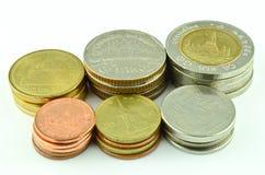Banho tailandês da moeda isolado Fotografia de Stock Royalty Free