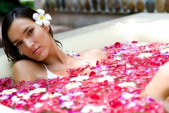 Banho tropical Fotos de Stock