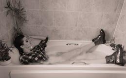 Banho vestido inteiramente Imagem de Stock Royalty Free