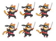 Banhoppning Nija Cat Animation Sprite Arkivbilder