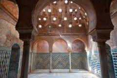 Banhos árabes em Alhambra de Granada imagens de stock