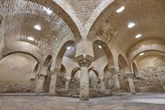Banhos árabes que constroem o interior em Jae'n, Espanha Arquitetura XI imagens de stock royalty free
