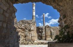 Banhos Antoninas de Tunísia Foto de Stock