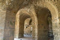 Banhos Antoninas de Tunísia Fotos de Stock Royalty Free