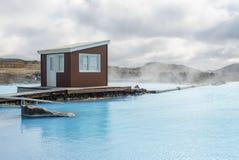 Banhos da natureza de Myvatn em Islândia Foto de Stock
