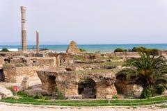 Banhos de Antoninus View em Carthage, Tun?sia fotografia de stock