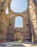 Banhos de Caracalla, ruínas antigas dos thermae públicos romanos Imagem de Stock Royalty Free