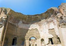 Banhos de Caracalla, ruínas antigas dos thermae públicos romanos Fotos de Stock Royalty Free