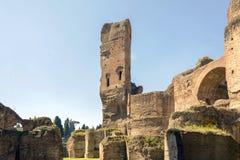 Banhos de Caracalla, ruínas antigas dos thermae públicos romanos Foto de Stock Royalty Free