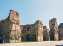 Banhos de Caracalla, ruínas antigas dos thermae públicos romanos Fotografia de Stock