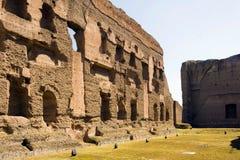 Banhos de Caracalla, ruínas antigas dos thermae públicos romanos Imagem de Stock