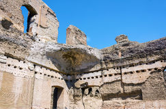 Banhos de Caracalla, ruínas antigas dos thermae públicos romanos Fotografia de Stock Royalty Free