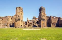 Banhos de Caracalla, ruínas antigas dos thermae públicos romanos Foto de Stock
