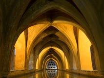 Banhos de Maria De Padilla, Alcazar de Sevilha imagem de stock royalty free