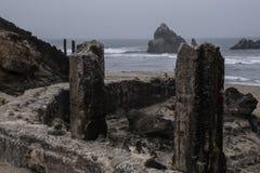 Banhos de Sutro, ruínas de San Francisco das paredes originais Fotos de Stock Royalty Free