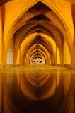 Banhos no Alcazar real de Sevilha, Spain Imagens de Stock