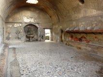 Banhos públicos antigos no c romano antigo Fotos de Stock