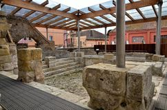 Banhos romanos na Espanha, Caldes de Malavella foto de stock
