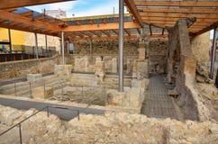 Banhos romanos na Espanha, Caldes de Malavella Fotografia de Stock Royalty Free