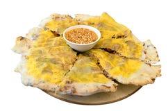 Banhxeo, Vietnamese pizza Stock Foto's