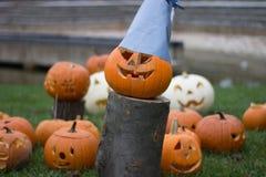 bani Halloween wystawa przy parkiem kolorowym fotografia royalty free
