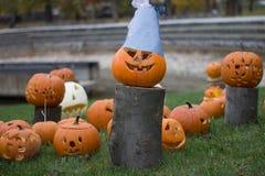 bani Halloween wystawa przy parkiem kolorowym fotografia stock