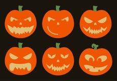 Bani Halloweenowy wektorowy ustawiający na czarnym tle Zdjęcie Royalty Free